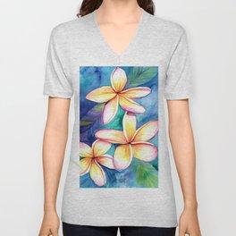 Blooming Plumeria 5 Unisex V-Neck