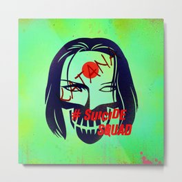 "KATANA ""Suicide Squad"" Metal Print"
