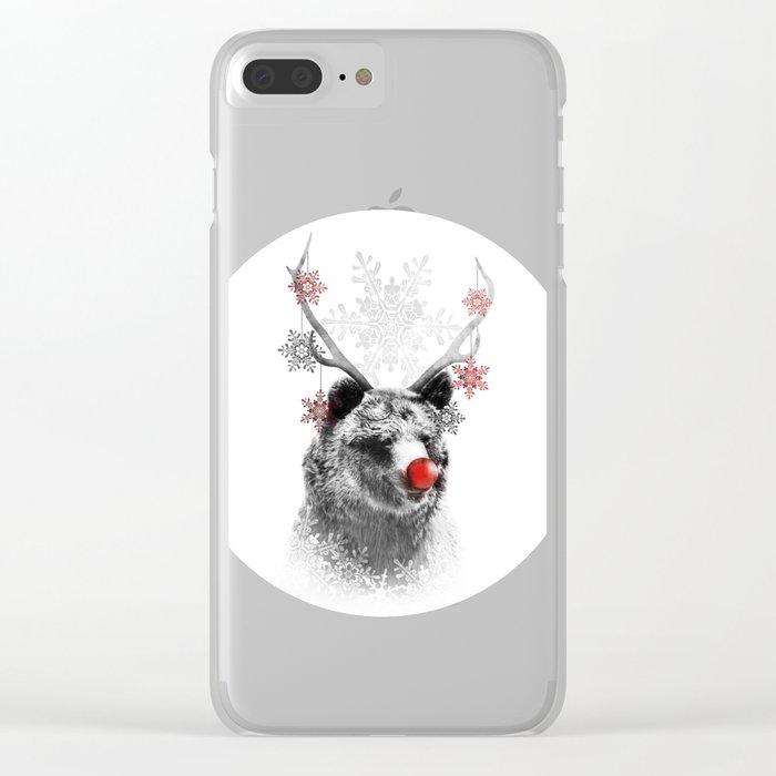 Rudolph the Bear Clear iPhone Case