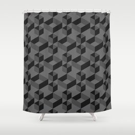 Black box Shower Curtain