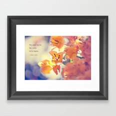 Begin with Joy Framed Art Print