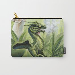 Smoking Dragon in Cannabis Leaves Carry-All Pouch