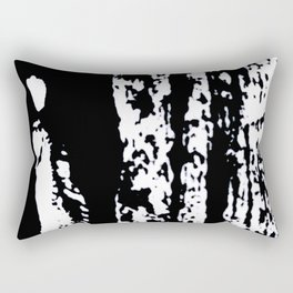 Blank: a minimal black and white linoprint Rectangular Pillow