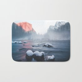Valley View - Yosemite National Park, California Bath Mat