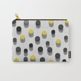 lastic bottle caps background with black and yellow pattern Carry-All Pouch