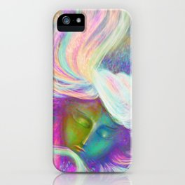 Rainbow Girl | Colourful Lady | Painting | Poster iPhone Case
