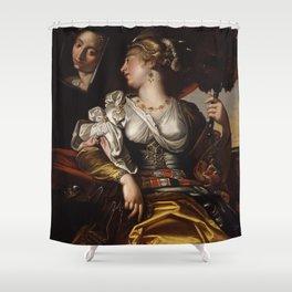 Workshop of Abraham Janssens - The Sense of Sight Shower Curtain