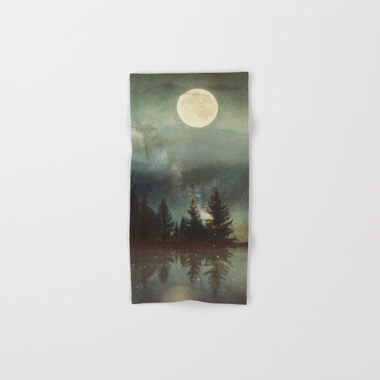 Midnight Fireflies Hand & Bath Towel