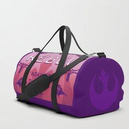 Rebel Against the Dark Side Propaganda Poster Duffle Bag