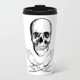 Skull and Mechanical Arms Travel Mug