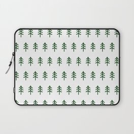 Hand drawn forest green trees Laptop Sleeve