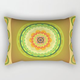 Olive and rainbow  circles  Rectangular Pillow
