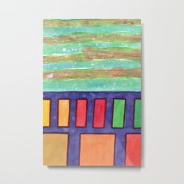 Building with colorful Windows Metal Print