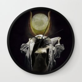 The Veil of Isis Wall Clock