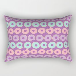 Iced Donuts on Dark Purple Rectangular Pillow