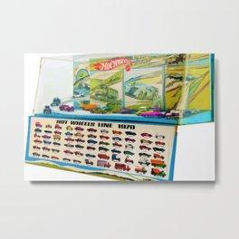 1970 Hot Wheels Lineup Store Display Redline Poster Metal Print