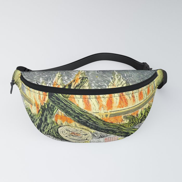 Vintage Tarot Style Mystic Cats Surrealism Fanny Pack