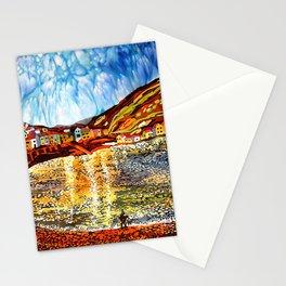 landskape-lake-fishing-oldtown Stationery Cards