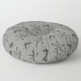 Atoms and Boomerangs on Gray Floor Pillow