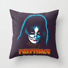PUSSYFACE Throw Pillow