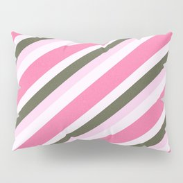 Pink Roses in Anzures 4 Stripes 4D Pillow Sham