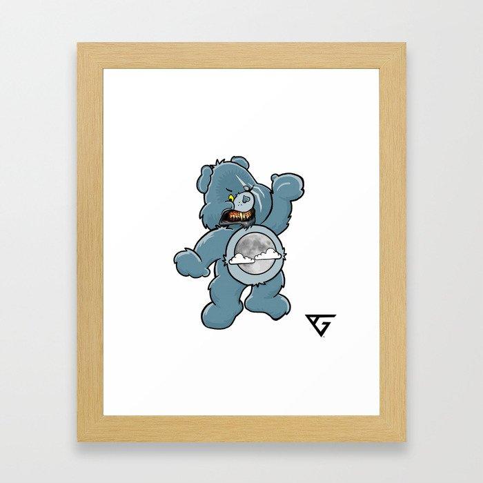 Werebear Snarl Framed Art Print