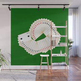 Playing Card Spread Wall Mural