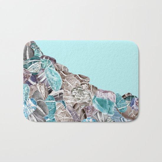 Turquoise Sea Stones Bath Mat
