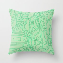 green billows Throw Pillow