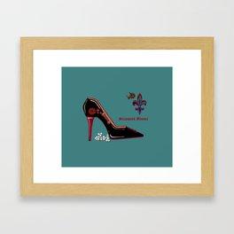 A Steampunk Pump, Stiletto, Steampunk Momma Framed Art Print