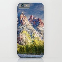 Colorado Rocky Mountain First Snow Maroon Bells iPhone Case