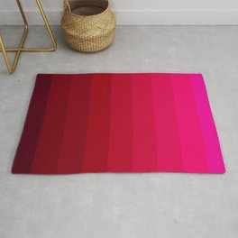 Pink and Red Stripes Rug