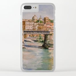Ponte Palatino in Rome Clear iPhone Case