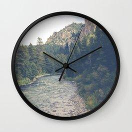 The Montana Collection - A River Runs Through It - Gallatin Canyon Wall Clock