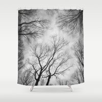 vertigo Shower Curtains featuring Vertigo 1 by Suzanne Harford