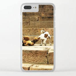 063 let's be serious! Clear iPhone Case