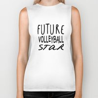 volleyball Biker Tanks featuring Future Volleyball Star by raineon