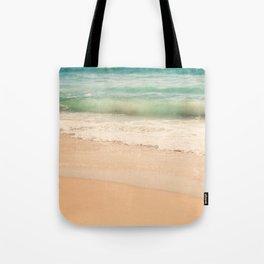 beach. Sea Glass ocean wave photograph. Tote Bag