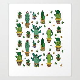 pear cacti Art Print