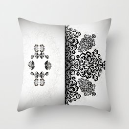 Ornament and grunge texture Throw Pillow