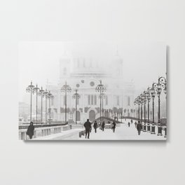 Winter In Moscow Metal Print