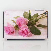 roses iPad Cases featuring Roses by Fine Art by Rina