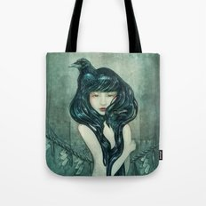 Oracle of the sodden raven Tote Bag