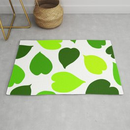 Green tropical leaves seamless pattern Rug