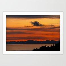 Vivid and Peaceful - Alaska Sunset Art Print