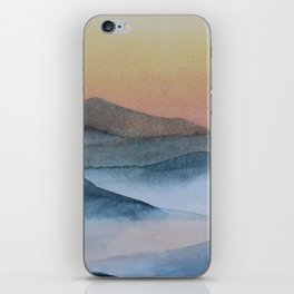 mist in the mountains iPhone Skin
