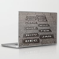 calendar Laptop & iPad Skins featuring Calendar Walk by Ethna Gillespie