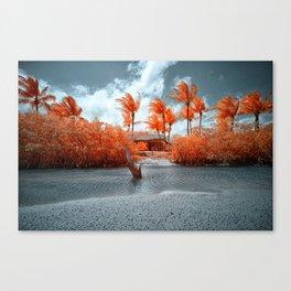 Paradise beach house Canvas Print