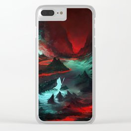 Red Cave Clear iPhone Case