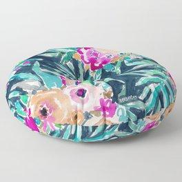 SO CASUAL Dark Tropical Palm Floral Floor Pillow